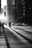 City streets in black and white Stock Images