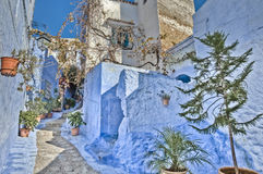 City streets of Chefchaouen, Morocco Stock Photography