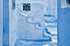 City streets of Chefchaouen, Morocco Royalty Free Stock Image