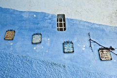 City streets of Chefchaouen, Morocco Royalty Free Stock Photo