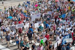 City Streets Filled With Protesters at National Rally Stock Images