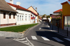 City streets and houses Royalty Free Stock Photography