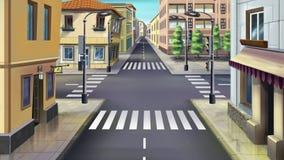 City streets. Image 01 Stock Photo