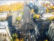 City streets intersection in Tyumen. Russia Royalty Free Stock Photography