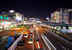 City streets in motion tokyo Japan Royalty Free Stock Photos