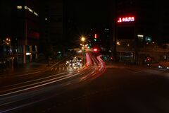City streets at night Royalty Free Stock Photography