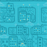 City streets seamless pattern background Stock Images
