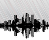 City with stripes. Vector royalty free illustration