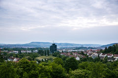 City of Stuttgart in Germany. Panorama View of the city of Stuttgart in Germany stock photo