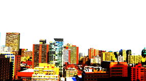 City style. Coloured grungy style city skyline Royalty Free Stock Images