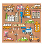 City in style cartoon Royalty Free Stock Images