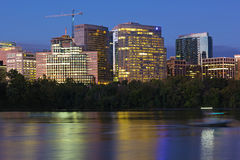 City suburb near Potomac River at dawn in Washington DC, USA. Stock Images