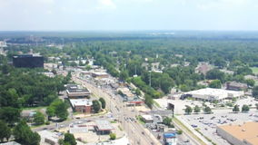 City Suburban Aerial stock video footage