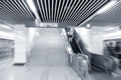City subway underpass Royalty Free Stock Photo