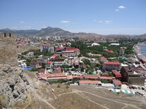 The city of Sudak Crimea. The city of Sudak belongs to the resorts of the Eastern Crimea, there are good sandy beaches and gravel royalty free stock photo
