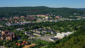 The city of Sundsvall, Sweden. The city of Sundsvall from a high point Stock Image