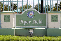 City of Sunrise Florida, Piper Field Sign Royalty Free Stock Photography