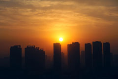 City sunrise Royalty Free Stock Photography