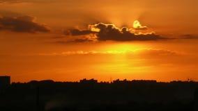 City sunrise stock footage