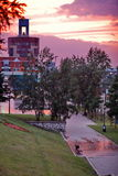 City at sunset Royalty Free Stock Photos