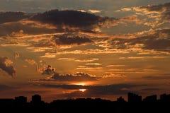 City sunset Stock Photography