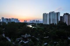 City sunset Stock Photo