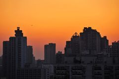 City sunset Royalty Free Stock Photo