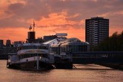 City sunset Rotterdam Royalty Free Stock Image