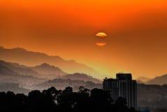 City sunset scenery Royalty Free Stock Photo