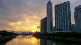City sunset scenery Royalty Free Stock Photography