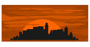 City at sunset Royalty Free Stock Image