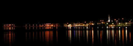 City of Supetar. By night Royalty Free Stock Photos