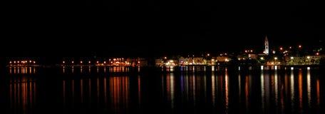 City of Supetar. By night royalty free stock photos