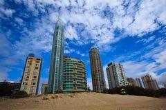 City of Surfers paradise Beachfront Royalty Free Stock Photos