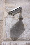 City surveillance. Surveillance camera in the city - electronic security technology Royalty Free Stock Image