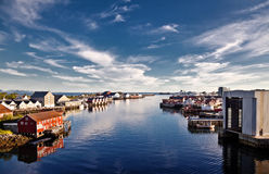 City Svolvaer. Norway. View of the city Svolvaer Royalty Free Stock Images