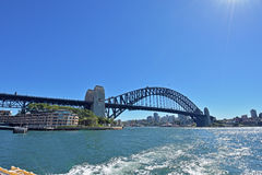 City of sydney. Harbor Bridge is a beautiful bridge in Sydney Royalty Free Stock Photography