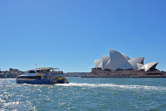 City of sydney. Natural scenery of the sea by the tourist attraction Stock Photography