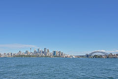 City of sydney. Natural scenery of the sea by the tourist attraction Stock Photos