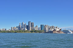 City of sydney. Natural scenery of the sea by the tourist attraction Royalty Free Stock Photos