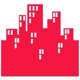 City symbol. Closeup of city symbol on white background Royalty Free Stock Photo