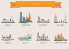 City symbol. Spain. Set for you design Royalty Free Stock Images
