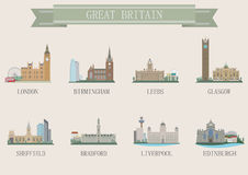 City symbol. UK Royalty Free Stock Photography