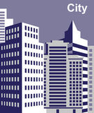 City tall buildings. Image of the metropolis with high-rise buildings in in  city Stock Photos