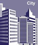 City tall buildings Stock Photos
