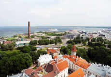 City of Tallinn on the Baltic Sea. Stock Images