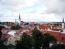 City of Tallinn on the Baltic Sea. Royalty Free Stock Photos