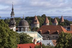 Rooftops of the city of Tallinn - Estonia Royalty Free Stock Images