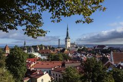 City of Tallinn in Estonia Royalty Free Stock Images