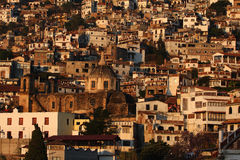 City of taxco. In bird-view royalty free stock images
